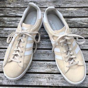 Men's beige Adidas Campus shoes size 8.5